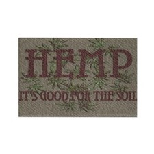 Hemp Good for the Soil Rectangle Magnet