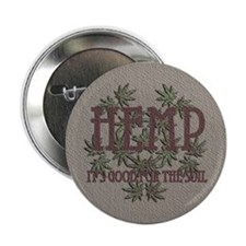 "Hemp Good for the Soil 2.25"" Button (10 pack)"