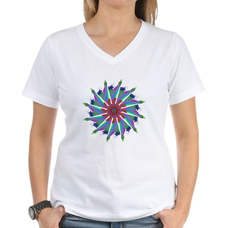Kaleidoscope 0006 Women's V-Neck T-Shirt