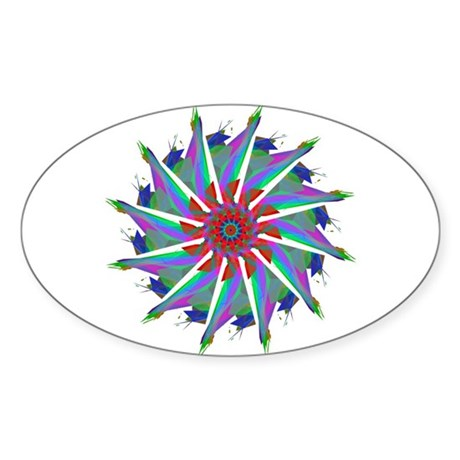 Kaleidoscope 0006 Oval Sticker