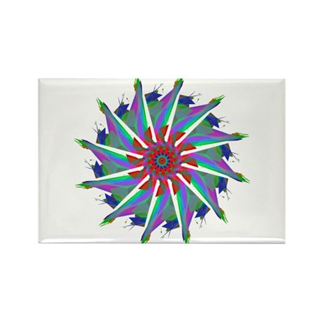 Kaleidoscope 0006 Rectangle Magnet (10 pack)