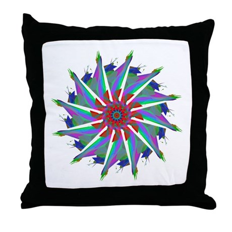 Kaleidoscope 0006 Throw Pillow