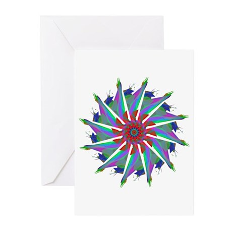 Kaleidoscope 0006 Greeting Cards (Pk of 10)