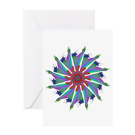 Kaleidoscope 0006 Greeting Card