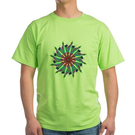Kaleidoscope 0006 Green T-Shirt