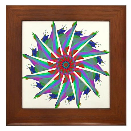 Kaleidoscope 0006 Framed Tile
