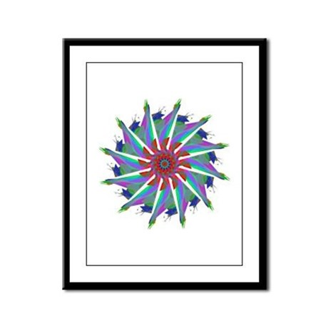Kaleidoscope 0006 Framed Panel Print
