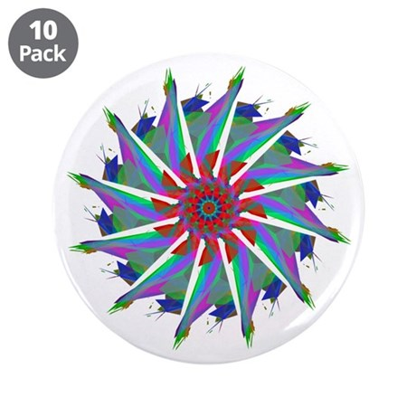 "Kaleidoscope 0006 3.5"" Button (10 pack)"