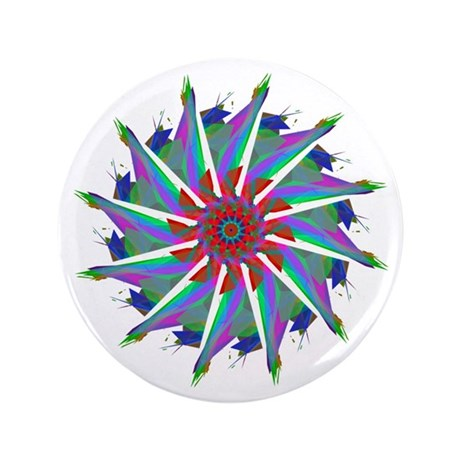 "Kaleidoscope 0006 3.5"" Button"