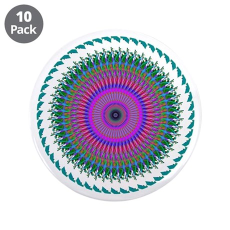 "Kaleidoscope 006 3.5"" Button (10 pack)"