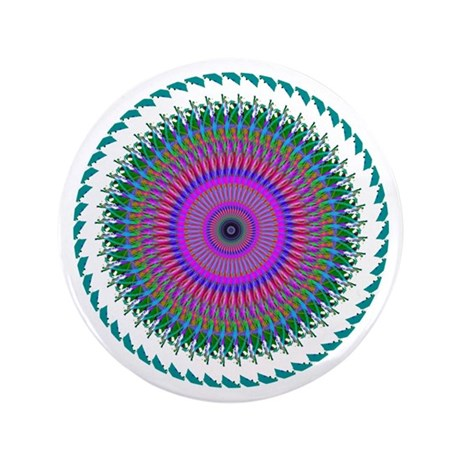 "Kaleidoscope 006 3.5"" Button (100 pack)"
