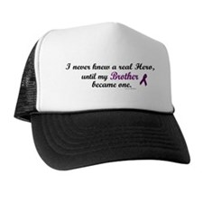 Never Knew A Hero BROTHER (Purple) Trucker Hat