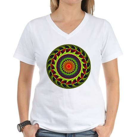 Kaleidoscope 00025 Women's V-Neck T-Shirt