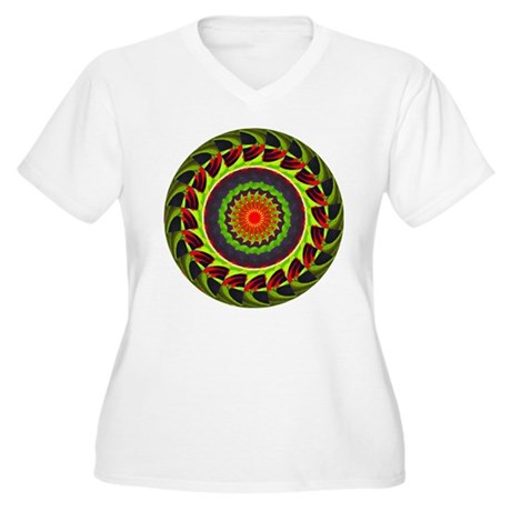 Kaleidoscope 00025 Women's Plus Size V-Neck T-Shir