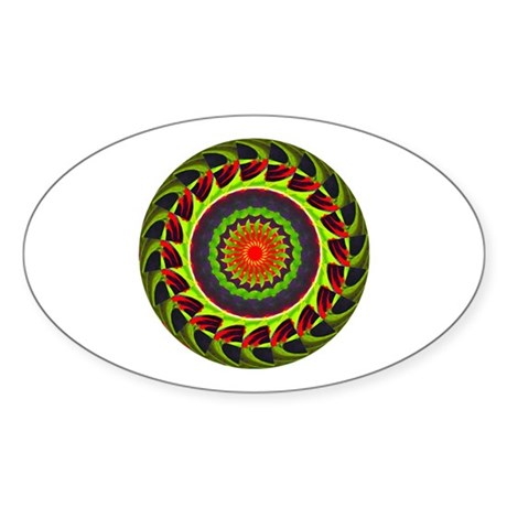 Kaleidoscope 00025 Oval Sticker