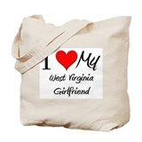 I Love My West Virginia Girlfriend Tote Bag