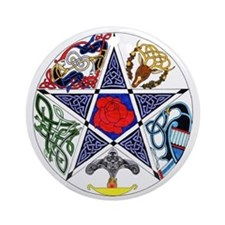 Celtic Pentagram Keepsake (Round)