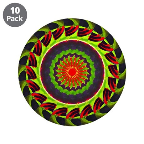 "Kaleidoscope 00025 3.5"" Button (10 pack)"