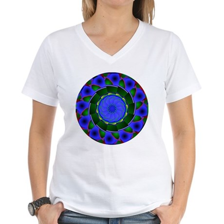 Kaleidoscope 0001 Women's V-Neck T-Shirt