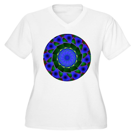 Kaleidoscope 0001 Women's Plus Size V-Neck T-Shirt