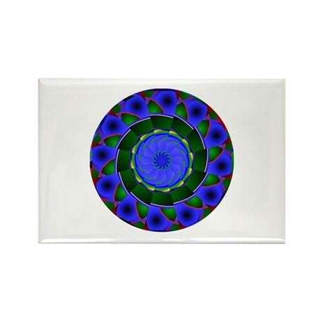 Kaleidoscope 0001 Rectangle Magnet (10 pack)