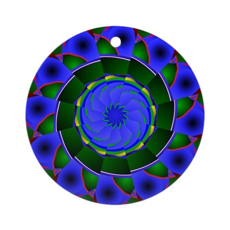 Kaleidoscope 0001 Ornament (Round)