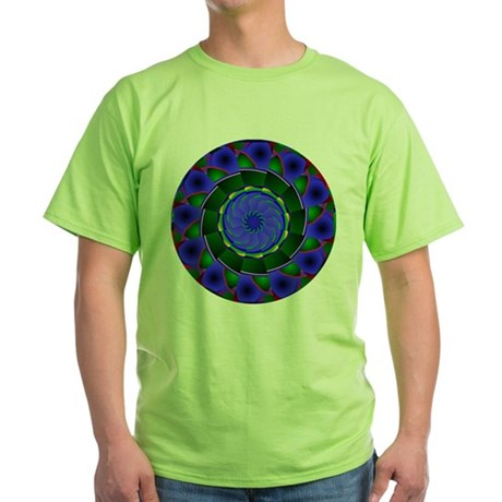 Kaleidoscope 0001 Green T-Shirt
