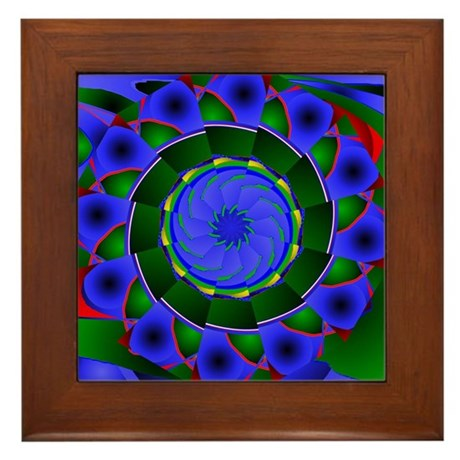 Kaleidoscope 0001 Framed Tile