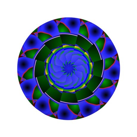 "Kaleidoscope 0001 3.5"" Button (100 pack)"