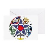 Unique Wiccan and witchcraft Greeting Cards (Pk of 10)