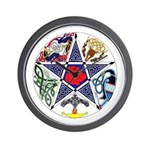 Celtic Pentagram Wall Clock