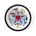 Celtic Pentagram Wall Clock