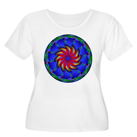 Kaleidoscope 0002 Women's Plus Size Scoop Neck T-S