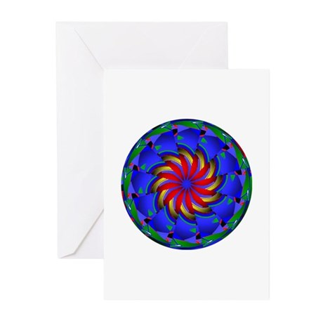 Kaleidoscope 0002 Greeting Cards (Pk of 20)