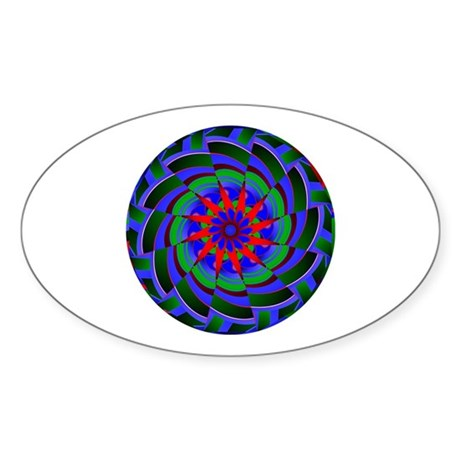 Kaleidoscope 0004 Oval Sticker