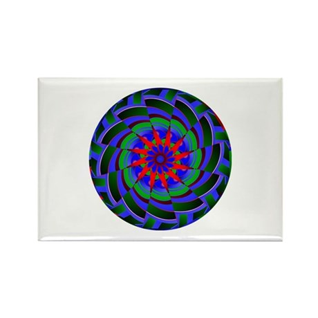 Kaleidoscope 0004 Rectangle Magnet (10 pack)