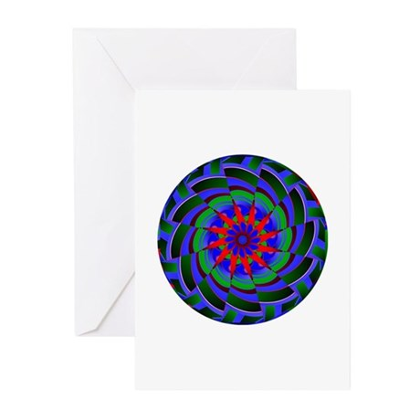 Kaleidoscope 0004 Greeting Cards (Pk of 10)