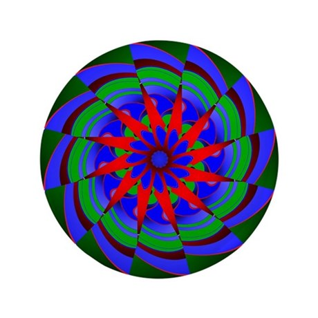 "Kaleidoscope 0004 3.5"" Button (100 pack)"