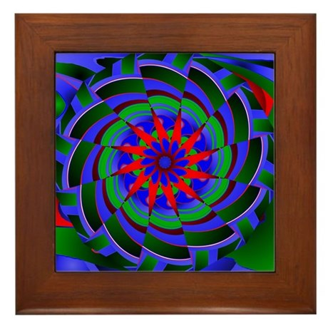 Kaleidoscope 0004 Framed Tile
