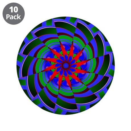 "Kaleidoscope 0004 3.5"" Button (10 pack)"