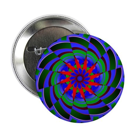 "Kaleidoscope 0004 2.25"" Button (100 pack)"