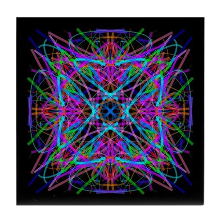 Kaleidoscope 005 Tile Coaster