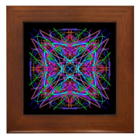 Kaleidoscope 005 Framed Tile