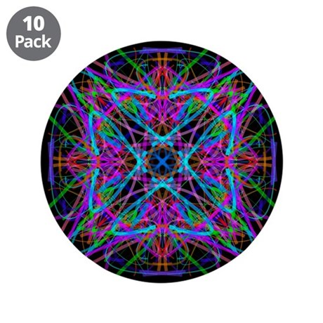 "Kaleidoscope 005 3.5"" Button (10 pack)"