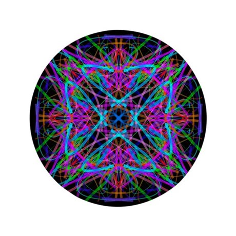 "Kaleidoscope 005 3.5"" Button"
