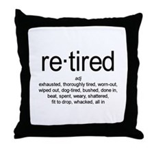 Definition of Retired Throw Pillow