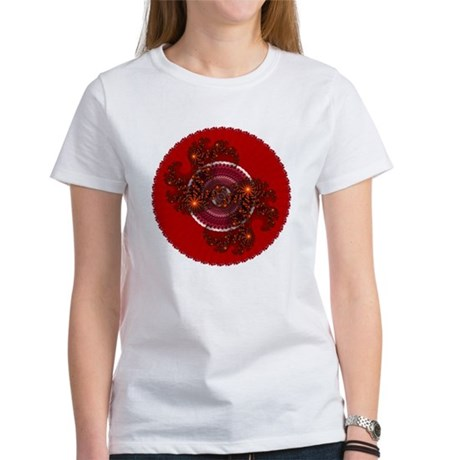 Fractal Kaleidoscope Red Women's T-Shirt