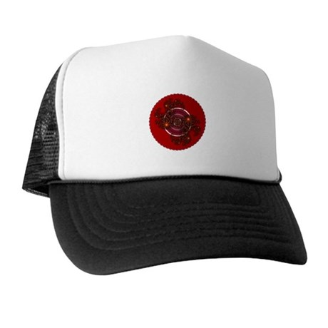 Fractal Kaleidoscope Red Trucker Hat