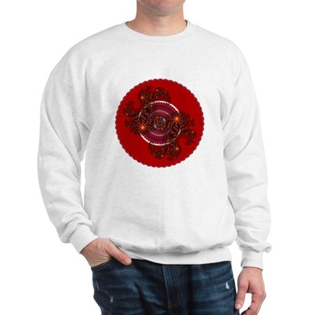 Fractal Kaleidoscope Red Sweatshirt