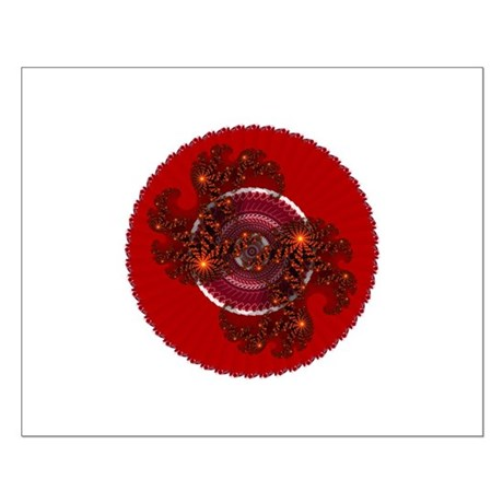Fractal Kaleidoscope Red Small Poster